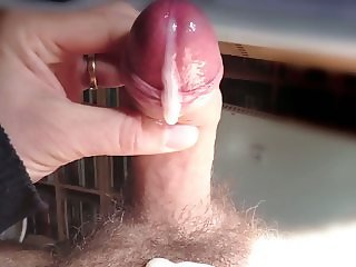 Having a nice wank