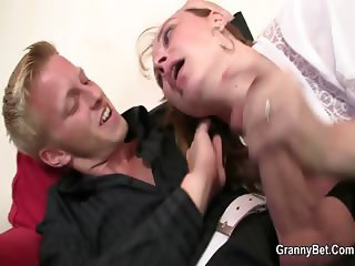 She is picked up in the bar and screwed