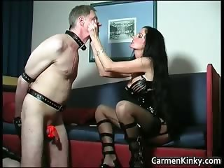 Kinky and weird dark head slut tied dude part6