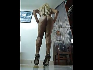 my sexy ass and legs in fishnet stockings