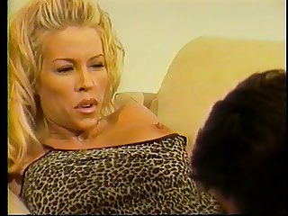 Sexy blonde cock sucker loves getting a huge jizz load on her belly then fucks