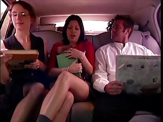 Three porn stars dogging in the car