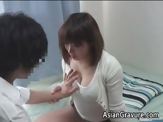 Hot asian home teacher with big juggs part3