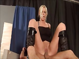Hot Blonde Euro Cougar Suck and Fuck in Boots