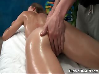 Sexy brunette babe gets horny getting part5