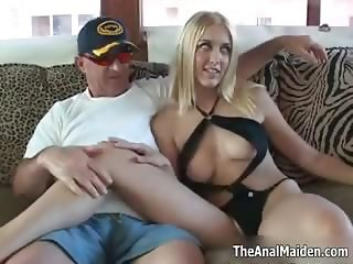 Sexy blonde babe gets horny showing off part5