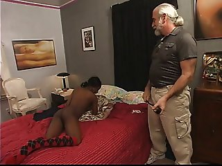 Guy whips ebony's hot ass with belt