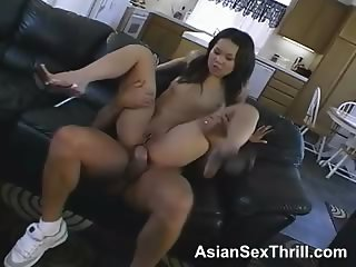 Asian petite is getting anal sex