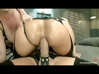 Kinky busty girls get their butts fucked and stretched