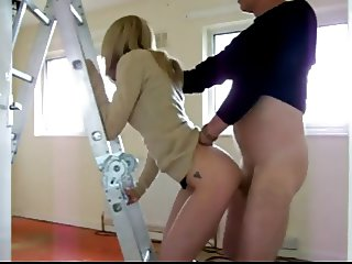 skinny blonde spanked and fucked hard