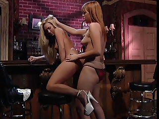 Lesbian chicks in a bar