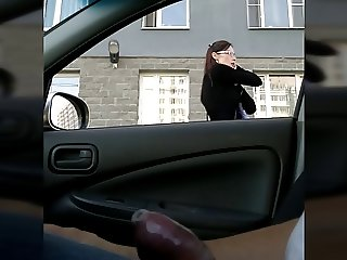 Flashing russian car