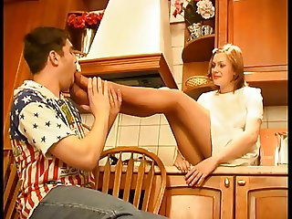 feet n fucking in the kitchen