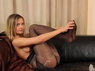 Black pantyhose and ultra neat lingerie