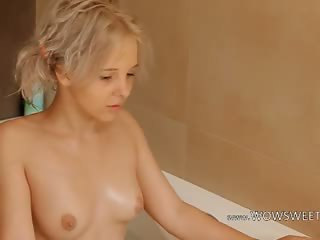 Shaving of beautiful 18yo blond pussy