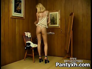 Sexy Twat Woman Rammed In Pantyhose