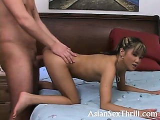Small asian pounding euro guy
