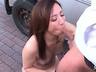 Sexy asian bitch goes crazy sucking part3