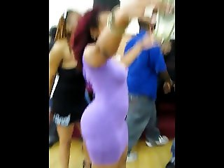 Booty shaking in skirt - contest (no nudity)