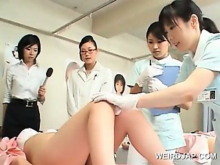 Asian sweeties get twats teased in a weird sex experiment