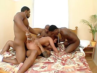 Jenna Red Gang banged by 4 BBC