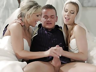 Two brides fucked