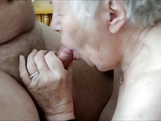Old granny enjoys sex