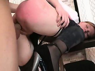 punished secretary with dick in bottom