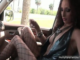 Nasty brunette slut gets horny showing part4