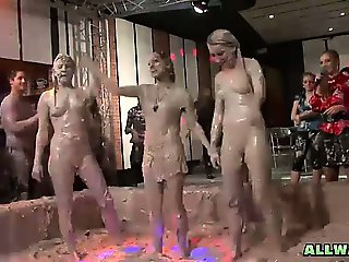 Eurobabes battle in the mud