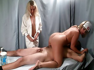Nurse Handjob: Strapped down for Therapy