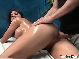 Sexy brunette babe gets fucked doggy part3