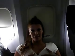 slut cums at 30k feet