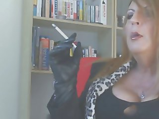 Leather gloves smoking