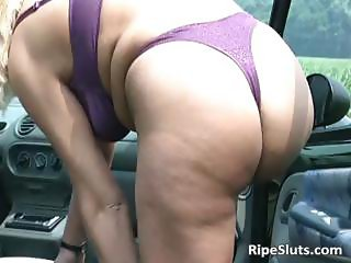 Sexy bitch with big boobs is giving part1