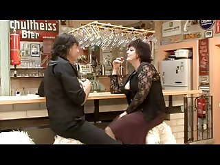 Hot German Mature Fucked in the Bar by TROC