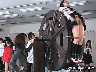 Cute asian school babe getting sexually teased hardcore