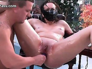 Nasty slut gets her ass dildo fucked part6