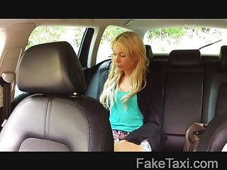 FakeTaxi - Blonde sucks cock to make flight