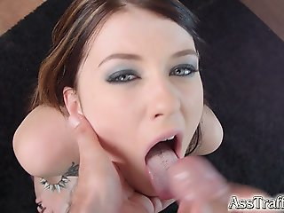 Polish punk hottie Misha Cross in a stunning anal scene. Lots of deep throating  deep anal fucking and wide gapes