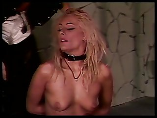 Handcuffed bitch abused by master