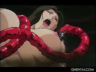 Monster tentacles fucking hentai slick bald pussies at orgy