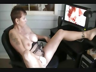 she's watching porn