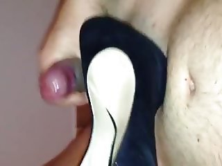 cumshot on my sister shoes 2