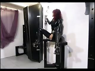 Mighty master drilling a slave girl