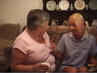 Grandma And A Sweet Blonde Teen Getting Each Other Off