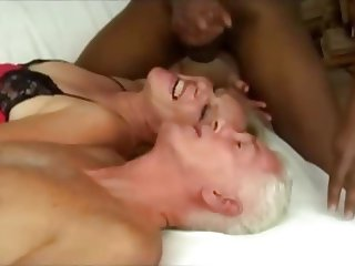 old man a woman and young black guy