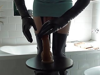 Latex Nurse & Anal Fuck In Hunter Rubber Boots