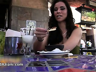 Gorgeous brunette gets drunk and show part5