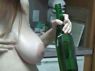 Pregnant girl  in the kitchen